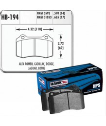 Тормозные колодки CHRYSLER 300 Hawk Performance HPS Brake Pads HB194F.570