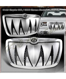 Решетка радиатора 2005-2010 Chrysler 300/300C Shark Teeth Front Hood Bumper Grille w/ B Emblem