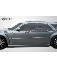 Пороги боковые 05-10 Dodge Magnum Chrysler 300 300c Luxe SIDE SKIRTS Kit Auto Body Rocker Panel
